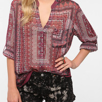Staring at Stars Chiffon Button-Down Shirt