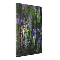 Fairy Lights Surreal Forest Wrapped Canvas