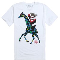 Riot Society Tropical Panda Giraffe T-Shirt - Mens Tee - White