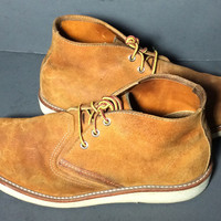 Red Wing® 3145 Work Chukka Burnt Orange Muleskinner Leather Boots Men's Size 10