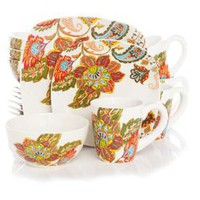 Better Homes And Gardens 16-Piece Floral Spray Dinnerware Set