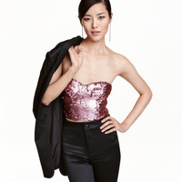 H&M Sequin-embroidered Bustier $34.99