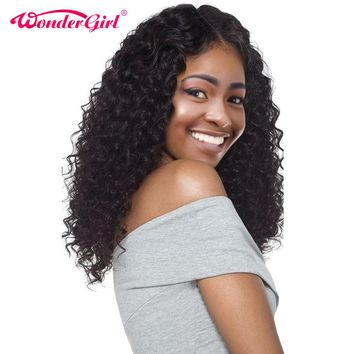 Pre Plucked Brazilian Deep Wave Wig With Baby Hair Non Remy