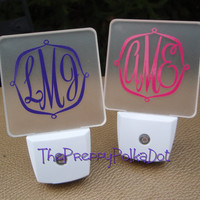 Monogram LED Night Light by ThePreppyPolkaDot on Etsy
