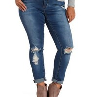 Destroyed Lifting Skinny Jeans