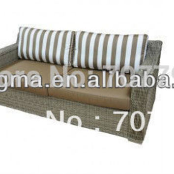 New Design blue white striped sofa