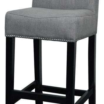 Scott Fabric Bar Stool, Gun Metal