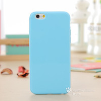 Solid Candy Color TPU Rubber Case Cover for iPhone 6 iPhone 6S Silicone Case Glossy Back