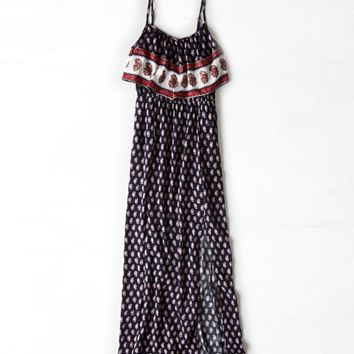 AEO RUFFLED BOHO MAXI DRESS