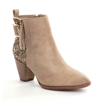 Gianni Bini Sheena Glitter Booties | Dillards