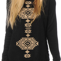 Lira City Slick Tribal Crew Neck Sweater