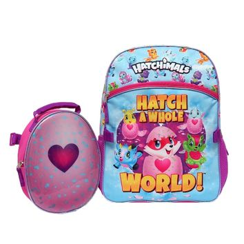 """Hatchimals Hatch A Whole World"""" 16 Backpack Large & Lunch Bag Tote Set"""