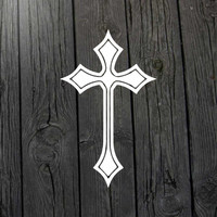 Cross decal Religious sticker Christian decal Cross sticker Religious decal Christian sticker Cross car decal Cross wall decal Tribal cross
