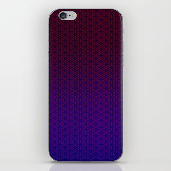 Geometric Flower Pattern 14 iPhone Skin by alishadawn