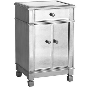 Hayworth Mirrored Silver Bedside Chest