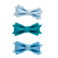 Little girls blue hairbows, Baby head bands, hair ornaments, baby girl hair accessories, girls hair bows, bows for girls, hairbow sets