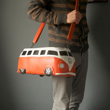 Volkswagen Bag Leather VW Bus Purse