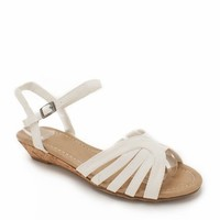 strappy low wedge sandal $17.60 in CORAL TURQUOISE WHITE - Sandals | GoJane.com