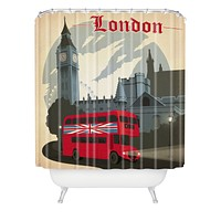 Anderson Design Group London Shower Curtain