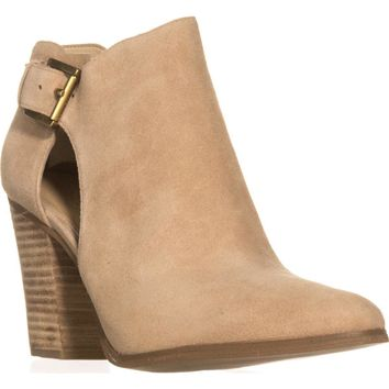 MICHAEL Michael Kors Adams Cutout Buckle Booties, Dark Khaki, 11 US / 42.5 EU