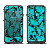 The Turquoise Butterfly Bundle Apple iPhone 6/6s LifeProof Fre Case Skin Set
