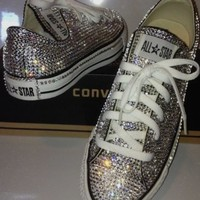 Dainty All Star Converse With Double Crystals