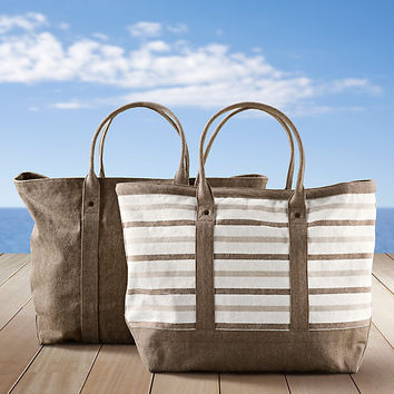 Côte d'Azur Beach Tote Collection Mocha