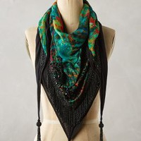 Formentera Fringed Scarf by Anthropologie Green Motif All Scarves