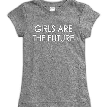 Heather Gray 'Girls Are The Future' Fitted Tee - Toddler & Girls