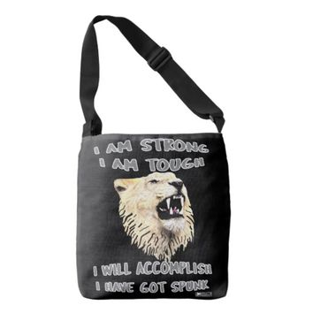 Spunk Quote by Kat Worth Crossbody Bag
