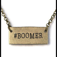 Gold hashtag Boomer necklace