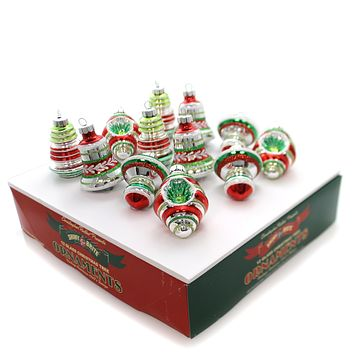 Christopher Radko Holiday Splendor Small Shapes Boxed Glass Ornaments