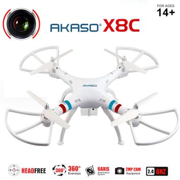 X8C RC Drone With Camera 2.4Ghz 6-Axis Gyro Quadcopter 360 RC Helicopter UAV RTF Dron UFO Drones with Camera HD 2MP