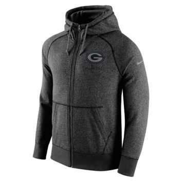 Nike AW77 Gridiron Grey Full-Zip (NFL Packers) Men's Hoodie