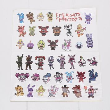10pcs  at  Party Favors characters Sticker Freddy Chica Bonnie Cupcakes Baby Ballora Funtime Freddy