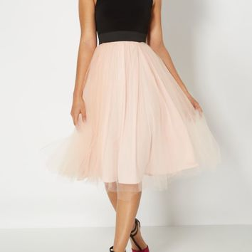 Pale Pink Ballerina Tank Cocktail Dress | Midi Dresses | rue21