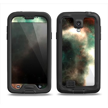 The Dark Green Glowing Universe Samsung Galaxy S4 LifeProof Fre Case Skin Set