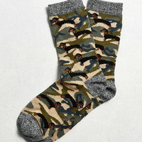 Camo Dachshund Sock - Urban Outfitters