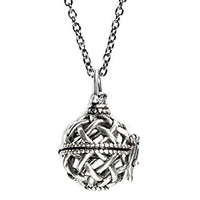 Wish Locket Pendant Necklace Opens to Add Wishes, Secrets, Prayers on 26 Inch Chain in Gift Box