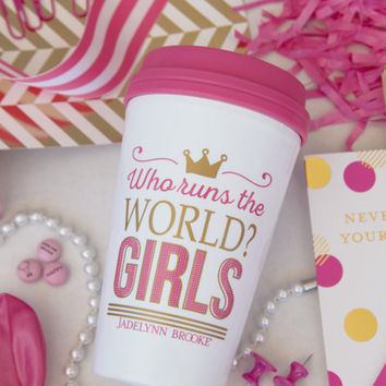 JADELYNN BROOKE: Who Runs the World Travel Mug