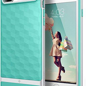 iPhone 7 Plus Case / iPhone 8 Plus Case, Caseology [Parallax Series] Slim Protective Textured Geometric Cover Drop Protection for Apple iPhone 7 Plus (2016) / iPhone 8 Plus (2017) - Mint Green