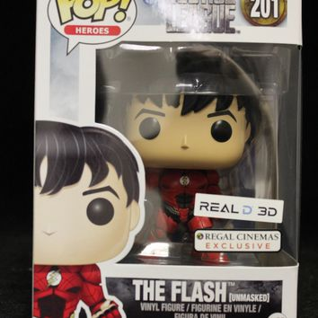 Funko POP #201 The Flash Unmasked Regal Cinema Exclusive