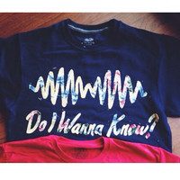 Arctic Monkeys sweatshirt -Do I Wanna Know and sound wave -Chose your color fabric!