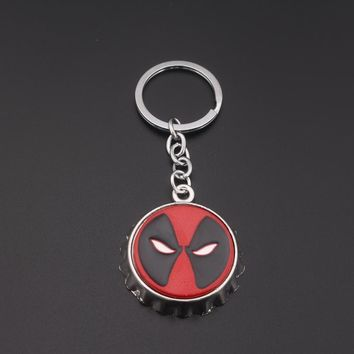 Deadpool Dead pool Taco SG Film Fashion Jewelry  Keyring Beer Bottle Opener Metal Keychain for Fans Jewelry AT_70_6