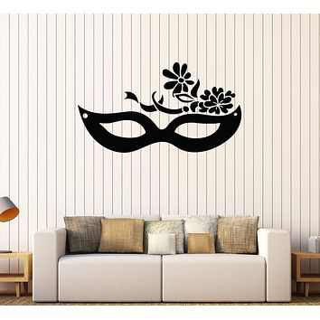 Vinyl Wall Decal Mask Carnival Masquerade Party Stickers Mural Unique Gift (587ig)