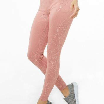 Athletic Metallic Print Leggings