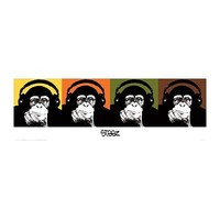 Monkey Quad Poster Print, 11x36 Collections Poster Print by Steez , 36x12 Collections Poster Print by Steez , 36x12