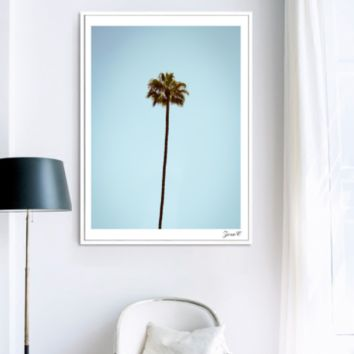 Minimalist Wall Art Canvas Painting - Palm Tree Poster