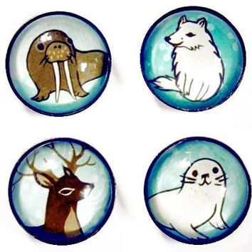 Winter Animals Magnet