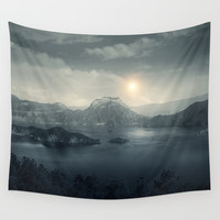 Silent sunset Wall Tapestry by vivianagonzalez